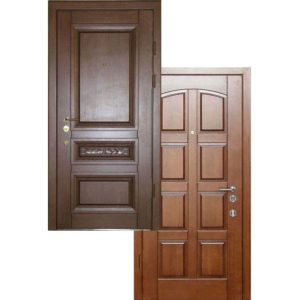 Входная дверь МАССИВ ДУБА + МДФ с терморазрывом трехконтурная СП305