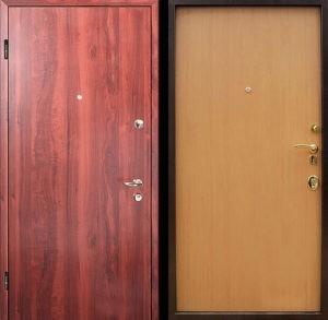 Входная металлическая дверь ламинат СП291