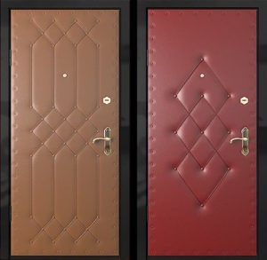 Входная металлическая дверь дутая винилискожа СП296